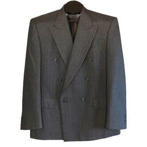 Pierre Balmain Men's Double Breasted Blazer Wool